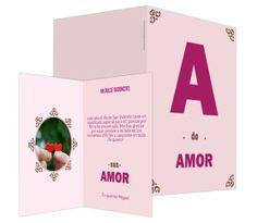 A de amor (rosa) - #felicitación de #SanValentin