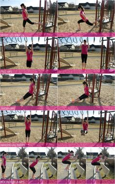 Think outside the box with the Playground Workout. It's a full-body workout, and YES, you do it at a kid's playground!