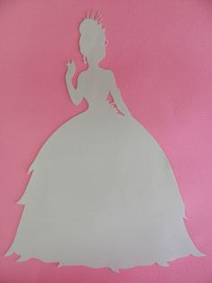 Disney inspired Princess Tiana from the Princess and the Frog silhouette for a nursery or little girl's room, Paper Art. $8.00, via Etsy.