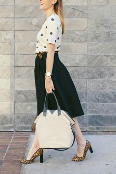 Polka dots, sequins, and leopard. #bloggerfavorites #outfit #inspiration