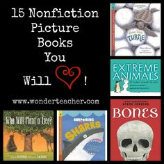 15 Nonfiction Picture Books You Will Love! Great list from Wonder Teacher.