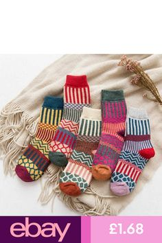 US 5 Pairs Womens Wool Cashmere Warm Soft Thick Casual Multicolor Winter Socks Pop Socks, Warm Socks, Women's Socks, Thick Socks, Woolen Socks, Cotton Socks, Over Knee Socks, Ankle Socks, Cashmere Socks