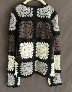 Nonna piazza uncinetto maglia manica lunga donna ponticelli