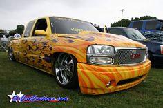 GMC Sierra.. Bagged Trucks, Sierra 1500, Low Rider, Custom Trucks, Car Garage, Paint, Cars, Awesome, Vehicles