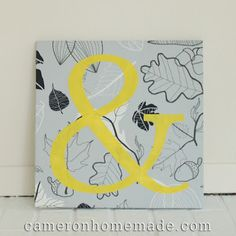 Cameron's entry!  I love grey and yellow together....