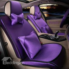 Solid Color All-Inclusives Style Ultra Comfortable Car Seat Covers Purple Love, All Things Purple, Shades Of Purple, Deep Purple, Pink Purple, Purple Cars, Purple Stuff, Color Violeta, Purple Rooms