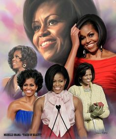 This historical montage by Wishum Gregory feautres the first African-American first lady in the history of the United States of America. Michelle Obama always looks so classy to me.