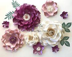 Paper flower Snow White set/Paper flower wall/Wedding