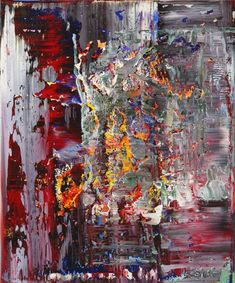 Gerhard Richter, Abstraktes Bild (Abstract Painting) 122 cm x 102 cm, Oil on canvas, 1989 Abstract Oil, Abstract Canvas, Abstract Expressionism, Gerhard Richter Painting, Scenery Paintings, Picasso Paintings, Action Painting, Contemporary Paintings, Modern Art