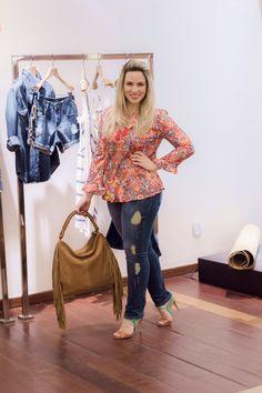 Jeans Destroyed e Sandália baphônica Bobstore