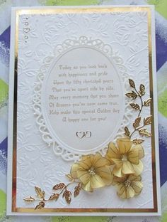 Golden Wedding Anniversary   docrafts.com