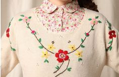 embroidery on wool sweaters - Google Search