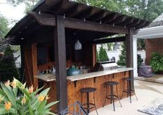 "Get fantastic recommendations on ""outdoor kitchen designs layout patio"". They ar… Get fantastic recommendations on ""outdoor kitchen designs layout patio"". They are offered for you on our internet site. Outdoor Bar Furniture, Diy Outdoor Bar, Outdoor Kitchen Bars, Outdoor Oven, Outdoor Kitchen Design, Outdoor Kitchens, Outdoor Living, Outdoor Ideas, Furniture Ideas"