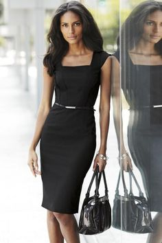 Office outfits women, dresses for work, designer work dresses, work clothes Office Dresses For Women, Dresses For Work, Clothes For Women, Work Clothes, Clothes Sale, Clothes Shops, Casual Clothes, Women's Dresses, Casual Outfits