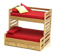 Bunk Bed wooden DOLLHOUSE Furniture miniature self-production kit scale dolls MH blythe Barb Baby Doll Furniture, Diy Barbie Furniture, Bedroom Furniture, Office Furniture, Furniture Ideas, Miniature Dollhouse Furniture, Diy Dollhouse, Dollhouse Miniatures, Wooden Dollhouse