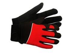 Mechanics glove with nylon back