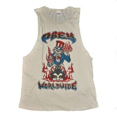 879a3df726 Obey Nation of the Beast Men s Fog Tank Top