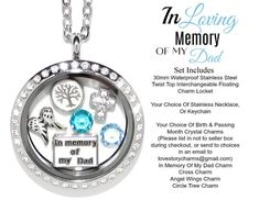 New Floating Charms for Glass Living Memory Lockets-Food-Flowers-Rainbow
