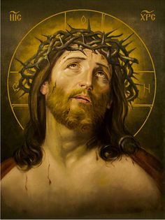 Jesus crown of thorns hand-painted of hot colors directly