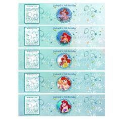 Little Mermaid water bottle printables