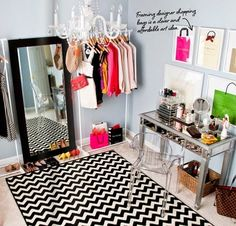 The Lovely Side: My Apartment's Problem Area | Built-in Bedroom Clothes Rack