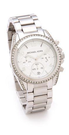 25e0f0fbda799d Michael Kors Blair Watch SILVER (like this one more) Mk Watch, Gold Watch