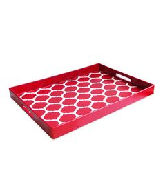 Take a look at this Red Garden Lattice Tray by Jay Import on #zulily today!