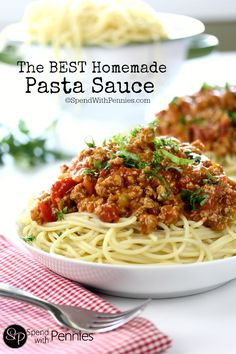 The Best Homemade Pasta Sauce - Spend With Pennies