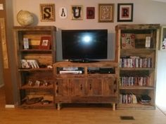 entertainment centers made from pallets | Pallet Entertainment Center Pallet entertainment center.