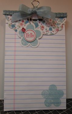 Note pads by Just Sponge It
