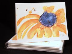 Set of Original Watercolor PRINT- Brown Eyed Susan Flower,  Note Cards/Greeting Cards (Set of Four), Flower Cards, Watercolor Cards by McKinneyx2Designs on Etsy https://www.etsy.com/listing/470893911/set-of-original-watercolor-print-brown