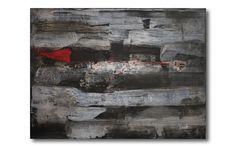 'Mauer' - Acrylverf op linnen - 80 cm breed x 60 cm hoog  #abstract #kunst #schilderij #interieur