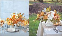 Tons laranja, amarelo e rosa para casamentos - Festa, Sabor & Decoração