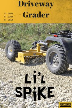 Grade your driveway or parking lot with your four-wheeler. The spikes groom the surface as no straight blade can do. Bring gravel back to the surface instead. Gravel Driveway, Driveway Entrance, Driveways, Parking Lot, Spikes, Atv, Spreads, Monster Trucks, Commercial