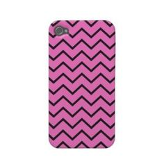 Pink Zigzag iPhone 4\ 4S Case Case-mate Iphone 4 Case from Zazzle.com