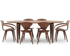 Cherner Side Chairs, Armchairs & Oval Table
