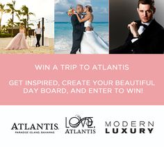 We're giving away the trip of a lifetime! You and your partner in crime could win a trip to Atlantis for a romantic wedding, vow renewal, or honeymoon! Plus you'll get to see Michael Bublé perform LIVE in paradise!