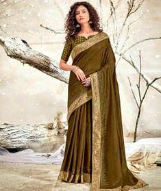 Chanderi Silk Saree Chanderi Silk Saree, Silk Sarees, Green Saree, Long Cut, Net Saree, Saree Look, Blouse Online, How To Dye Fabric, Look Cool