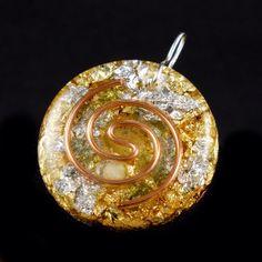 Orgonite Orgone Energy Pendant. Tibetan Crystals, Petalite, SBB Coil, Moldaviate, Rhodizite, Selenite, Tourmaline, Shungite, Copper (720)