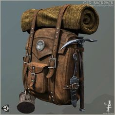 Elevate your workflow with the Old Survival Backpack asset from Mister Necturus. Find this & other Props options on the Unity Asset Store. Survival Backpack, Survival Gear, Survival Quotes, Survival Skills, Larp, Leather Working, Leather Craft, Leather Backpack, Character Art