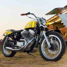 Bike builder extraordinaire Greg Hageman turns a Sportster into a tribute to the Harley XLR. Harley Davidson V Rod, Classic Harley Davidson, Harley Davidson Sportster, Custom Sportster, Sportster Scrambler, Bobber, Bike Builder, American Motorcycles, Harley Bikes