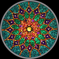 Stained Glass (mosaic) Mandalas... just one of the billions things on my to-do list. Not that mine will turn out this beautifully....