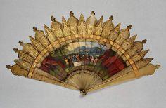 brisé fan Dimension(s): length, guards, cm width, whole, cm Antique Fans, Vintage Fans, Hand Held Fan, Hand Fans, Vintage Accessories, Women Accessories, Modern Fan, Umbrellas Parasols, Antique Clothing