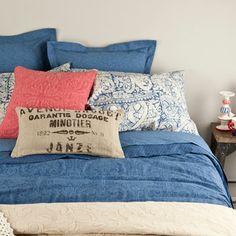 Printed Cotton Bed Linen I, zara home