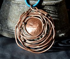 copper wire necklace copper jewelry copper by CopperFinger on Etsy Wire Necklace, Copper Necklace, Copper Jewelry, Copper Wire, Unique Jewelry, Handmade Copper, Pendant, Handmade Gifts, Etsy