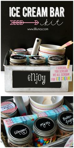 Ice Cream Bar Kit - perfect for parties or for a gift! { lilluna.com } #MichaelsMakers