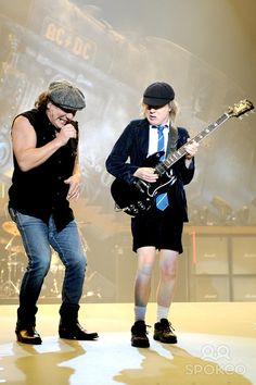 Brian Johnson and Angus Young AC/DC live at DatchForum