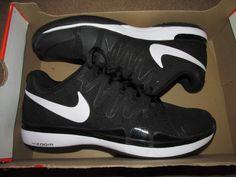 Nike Zoom Vapor 9.5 Tour Mens Tennis Shoes Black FEDERER 631458 011 #Nike #Tennis