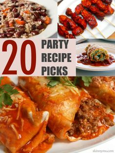20 Skinny Ms Party Recipe Picks perfect for entertaining!