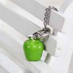 green apple jewelry pendant best necklace price